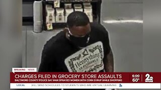 Man charged in grocery store spray attacks