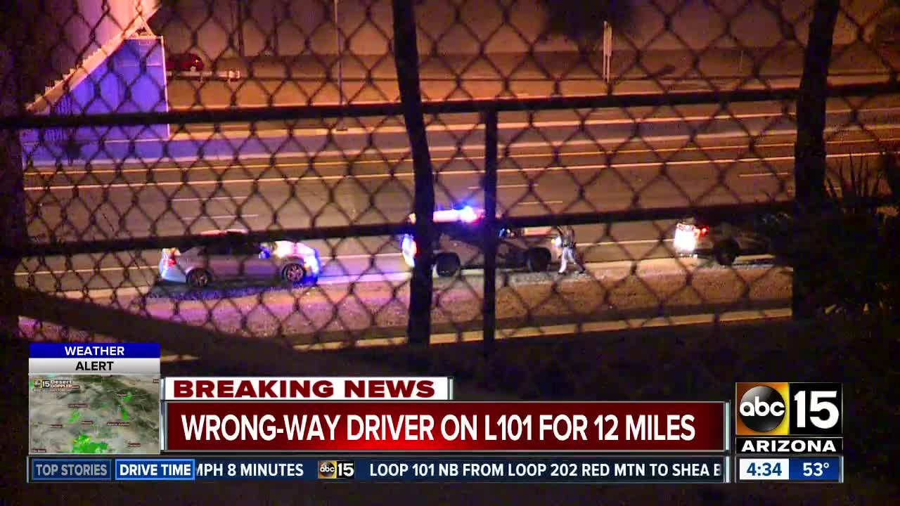 Wrong-way driver stopped on Loop 101