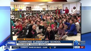 Good morning from Hammond Elementary School!