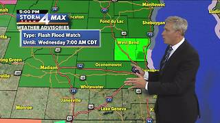 Flash Flood Watch in effect until Tuesday morning