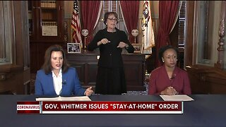Governor Whitmer issues stay-at-home order for Michigan residents
