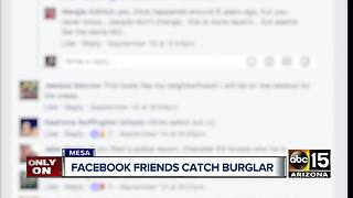 Accused burglar arrested after video posted on social media - Video