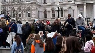 Baltimore Students March on City Hall for Gun Safety - Video