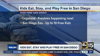 Kids eat, stay and play free in San Diego