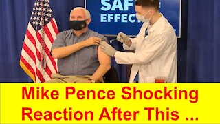 Mike Pence reaction to the COVID Vaccine