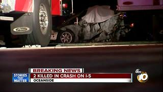 Two killed in crash on Interstate 5 - Video