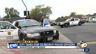 City takes steps to recruit SDPD officers - Video