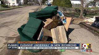 Ohio River flood cleanup underway in New Richmond - Video