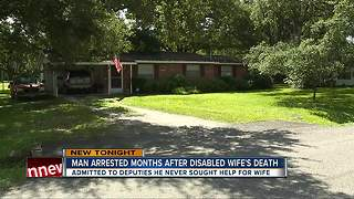 Deputies: Tampa man arrested after his disabled, malnourished 68-pound wife was found dead - Video