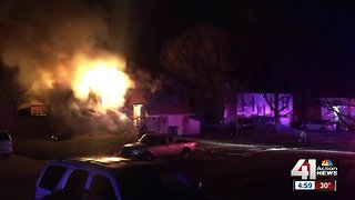 Teen hospitalized after Olathe house fire