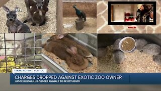Charges dropped against exotic zoo owner
