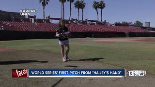 hailey world series pitch - Video