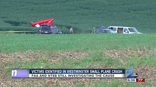 Victims identified in Westminster Small Plane Crash