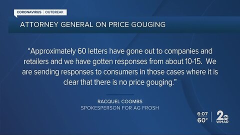 Attorney General responds to more than 100 complaints of price gouging