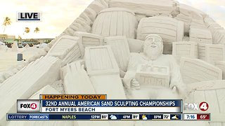 32nd annual American Sand-sculpting Championship - 7am live report