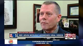 Rep. Kevin McDugle addresses viral videos - Video