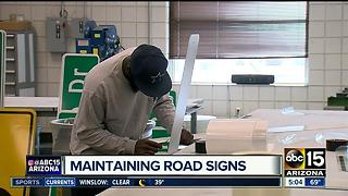 Look inside Maricopa County Department of Transportation's road sign shop - Video
