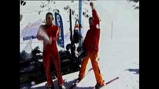 Blind Skiier Gets Downhill Record - Video