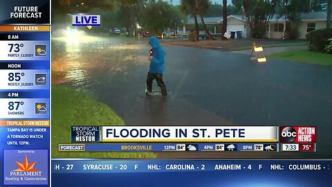 Tropical Storm Nestor causes flooding in St. Pete's Shore Acres