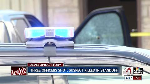 KCPD continues to process scene of officer-involved shooting