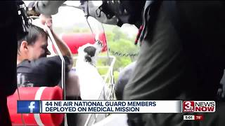 Helping Houston: Nebraska Air National Guard members deployed on medical mission - Video