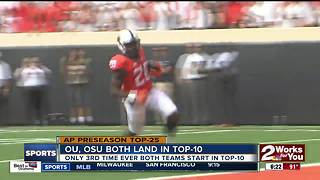 Oklahoma (#7), Oklahoma State (#10) both land in AP Preseason Top-10 - Video