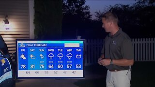 Mostly sunny skies, highs in the upper 70s Friday