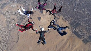 Adrenaline Junkies Free-falling Over The Ancient Pyramids