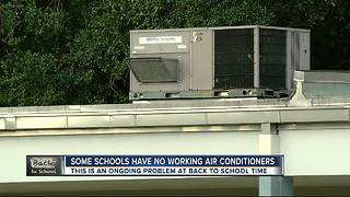 Some schools have no working air conditioners