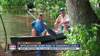 Waters rise at Withlacoohee - Video