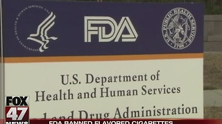 FDA banned flavored cigarettes - Video