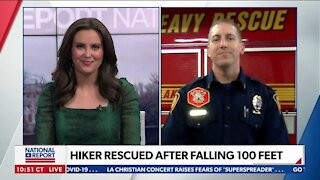 HIKER RESCUED AFTER FALLING MORE THAN 100 FEET