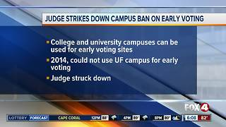 Judge strikes down Florida's campus ban on early voting - Video