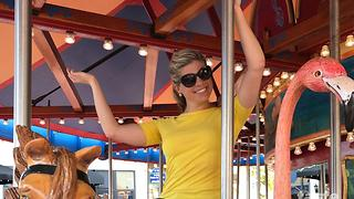 WPTV personalities ride a Merry-Go-Round - Video
