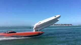 Shocking high speed boat accident