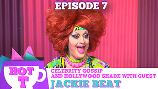 DRAG LEGEND JACKIE BEAT on HOT T! Celebrity Gossip & Hollywood Shade Season 3 Episode 7 - Video