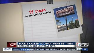 Police called to North Las Vegas apartment 55 times in 12 months - Video