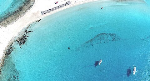 Awesome drone view of one of the best beaches in Europe