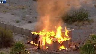 Firefighters tackle North Las Vegas blaze - Video