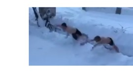 These Guys 'Swimming' Through Snow Will Give You the Shivers - Video
