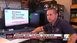 Beware new 'talking' tech scam - Video