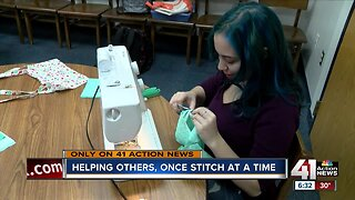 KC teen helping others, one stitch at a time