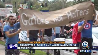 Protests as white nationalist speaks on campus - Video