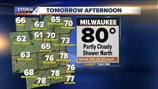 Warm and breezy, highs in the 80s Tuesday