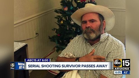 12 years after being shot, serial shooting survivor passes away