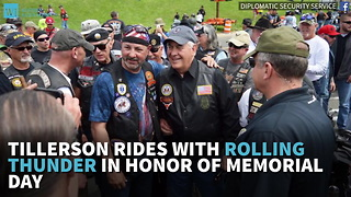 Tillerson Rides With Rolling Thunder In Honor Of Memorial Day - Video