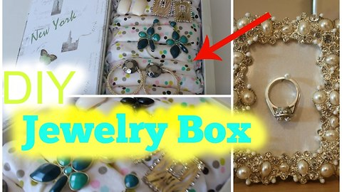 DIY jewelry holder box: Spring room decor