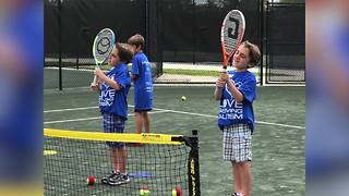 Tennis court lessons for kids on the Autism Spectrum - Video