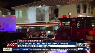 3 people displaced by apartment fire