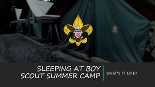 SLEEPING AT SUMMER CAMP